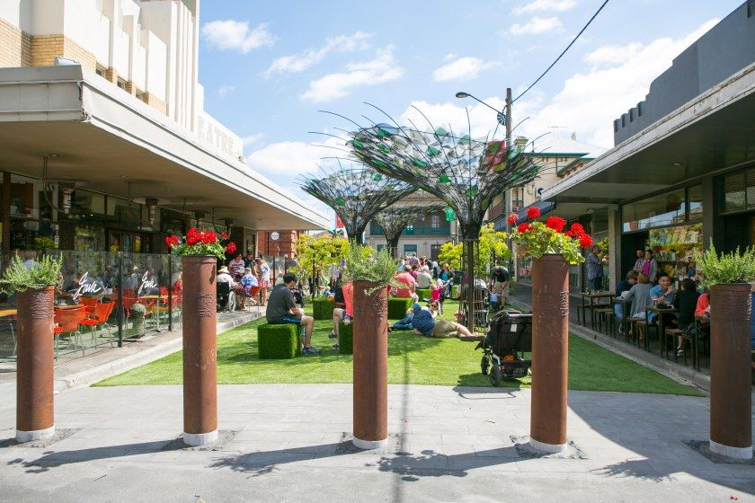 Urban park in Yarraville Melbourne