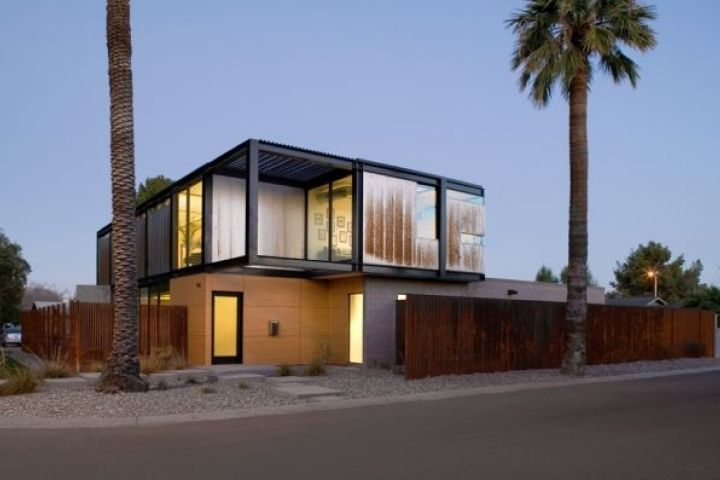 A modern, modular home.